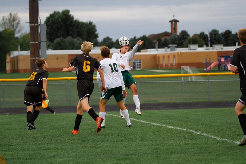 Holy Family Boys Varsity Soccer vs. Hutchinson, 9/26/19: Casey Gess '20 (3)