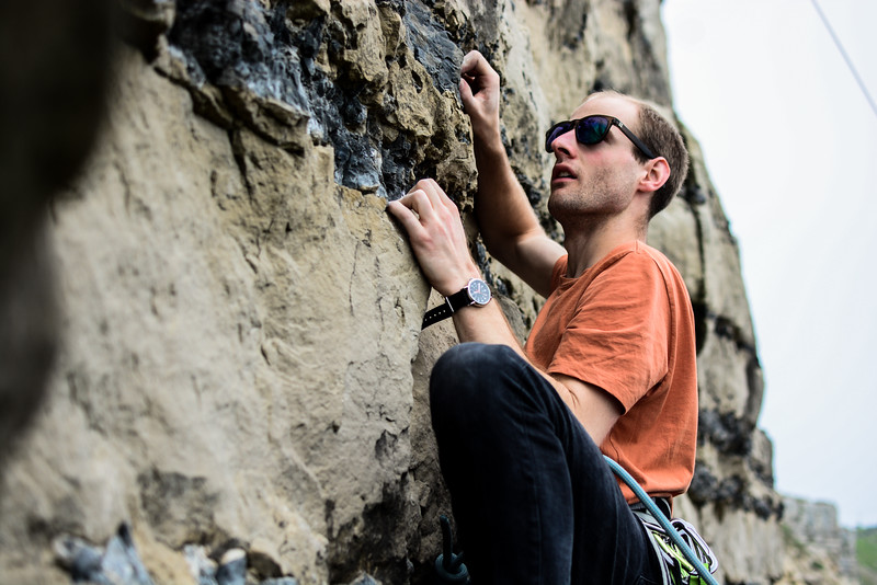 Climbing Portland bill