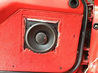 1989 Chevy Corvette C4 Convertible Front Door Speaker Installation - USA