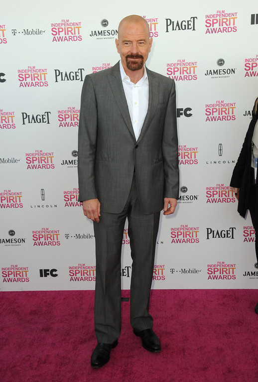 . Actor Bryan Cranston arrives at the Independent Spirit Awards on Saturday, Feb. 23, 2013, in Santa Monica, Calif.  (Photo by Jordan Strauss/Invision/AP)