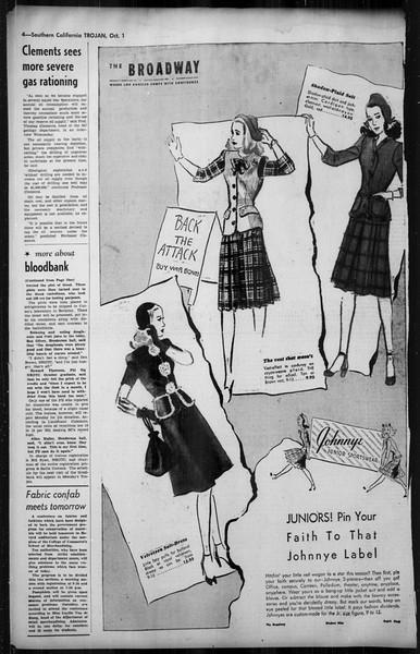 Southern California Trojan, Vol. 35, No. 39, October 01, 1943