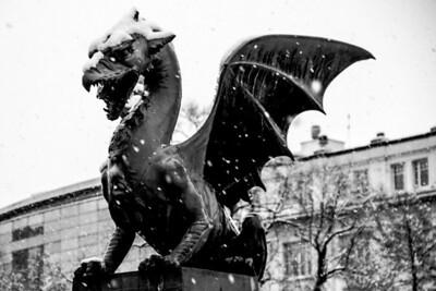 2014-01-First snow Ljubljana