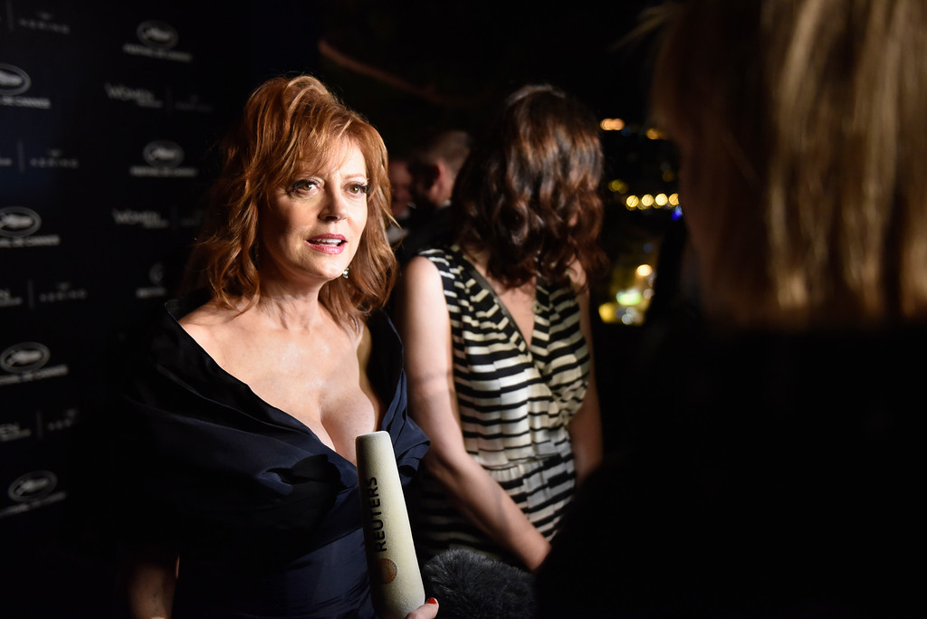 . CANNES, FRANCE - MAY 15:  Susan Sarandon attends the Kering And Cannes Film Festival Official Dinner at Place de la Castre on May 15, 2016 in Cannes, France.  (Photo by Clemens Bilan/Getty Images for Kering)