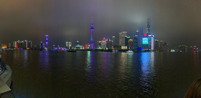Panorama view of The Bund Shanghai