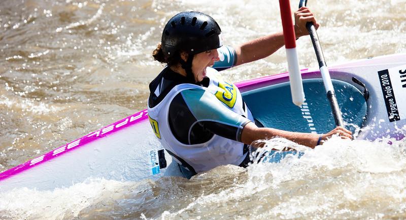 Jessica FOX (Australia), K1 Semifinal - ICF Slalom World Cup 2010, La Seu d'Urgell (Spain)