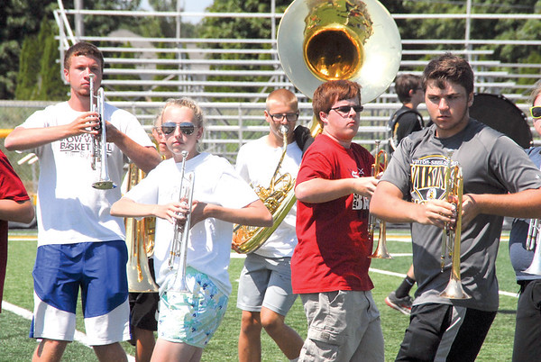 VS Marching Band final practice performance Aug. 12, 2017