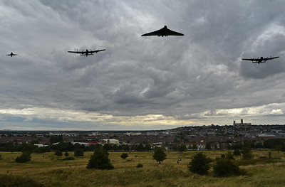LANCASTERS AND VULCAN FLYPAST
