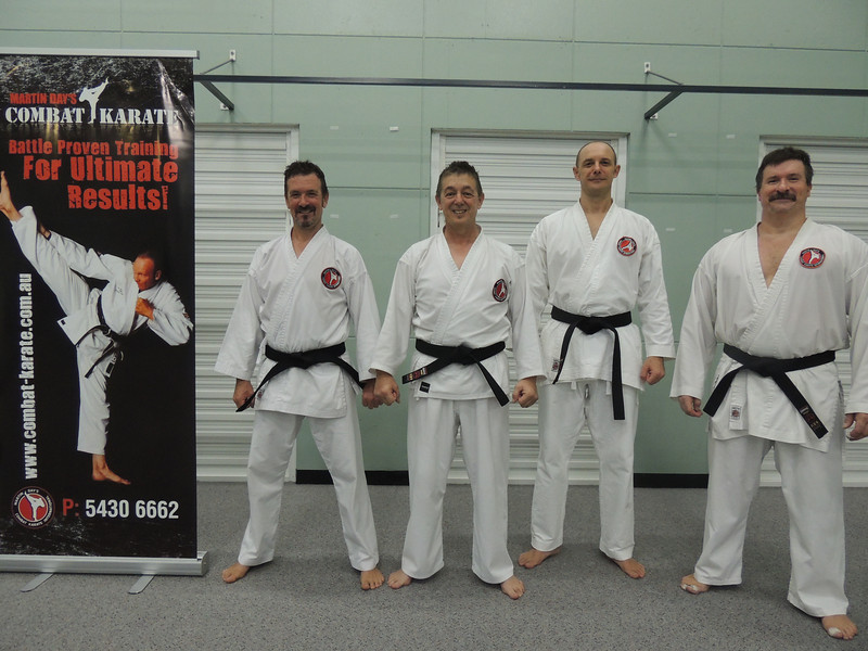 First Combat Karate Noosa Black Belt Grading - All Passed to 1st Dan! WELL DONE Garry, Joe, Nigel & Andy!