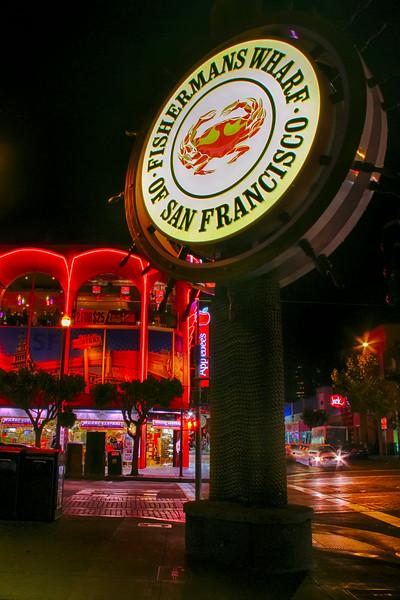 The Embarcadero and Waterfront at Night