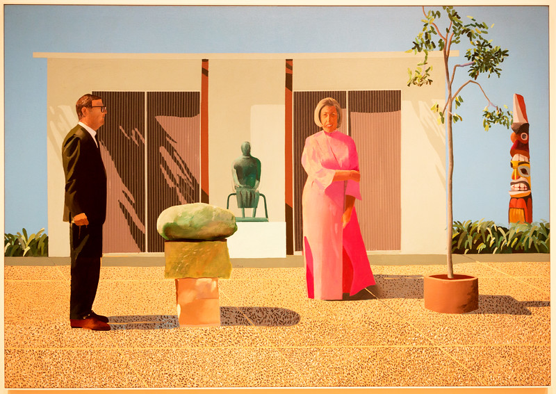 "... David Hockney, ""American Collectors (Fred and Marcia Weisman),"" 1968"