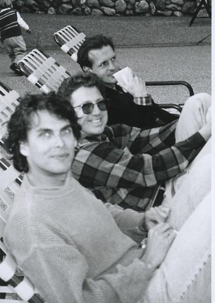 1993 - Michael Chabon, Louie Jones, & friend.jpeg