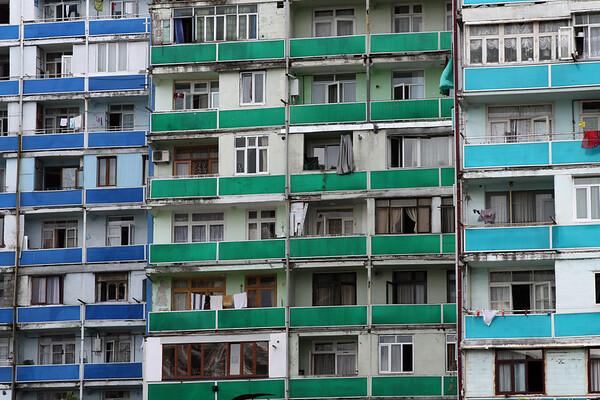 Old apartments in Batumi, Georgia