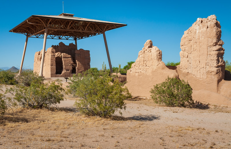 Deteriorating Houses at Casa Grande Ruins National Monument