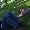 relaxing in the volkspark am friedrichshain