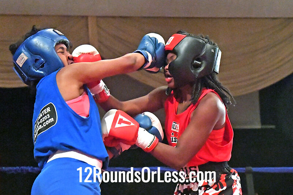Bout 2  Tamika Waston, Red Gloves, Fairfax Rec., Cleveland, OH -vs- Honesty Summers, Blue Gloves, MLK Premier Boxing Club, Cleveland, OH  -  114 Lbs.