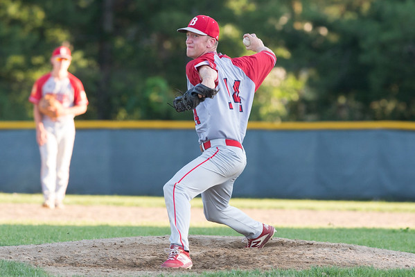 07/08/19 Wesley Bunnell | Staff Newington baseball defeated Bristol in an American Legion game in Newington on Monday July 8, 2019. Bristol's Alex Diloreto (14)