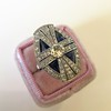 1.88ctw Art Deco style Saphhire and Diamond Dinner Ring 5