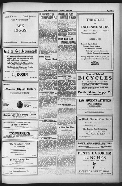 The Southern California Trojan, Vol. 12, No. 39, December 08, 1920