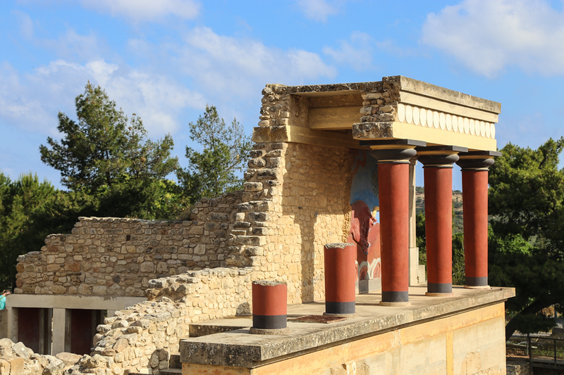 Ancient structure with columns in Crete