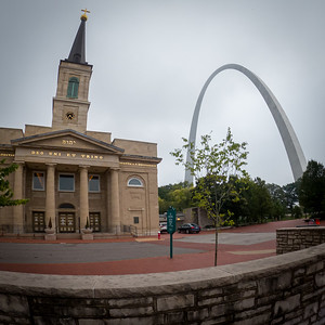 Basilica of Saint Louis, King of France and Gateway Arch