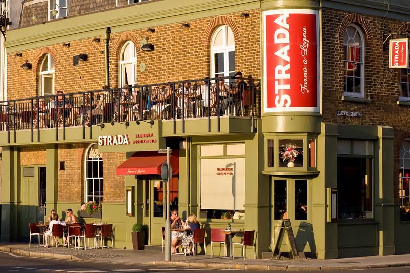 Strada restaurant in Barnes, SW13, London, United Kingdom