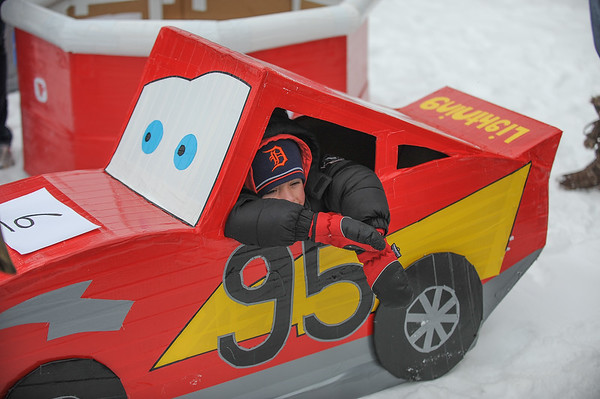 2014 Cardboard & Duct Tape Sled Race @ The Moose