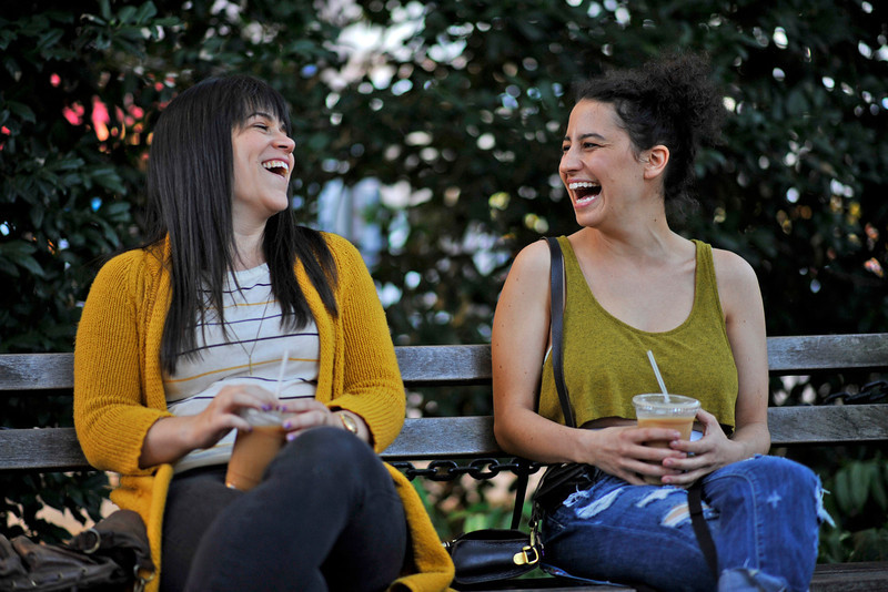 ". Abbi Jacobson and Ilana Glazer (l-r) ""Broad City.\"" (Photo by Walter Thompson)"