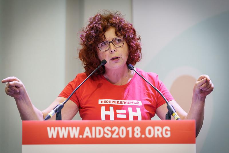 22nd International AIDS Conference (AIDS 2018) Amsterdam, Netherlands.   Copyright: Matthijs Immink/IAS  Global Village Opening  Photo shows: Reine Foppen