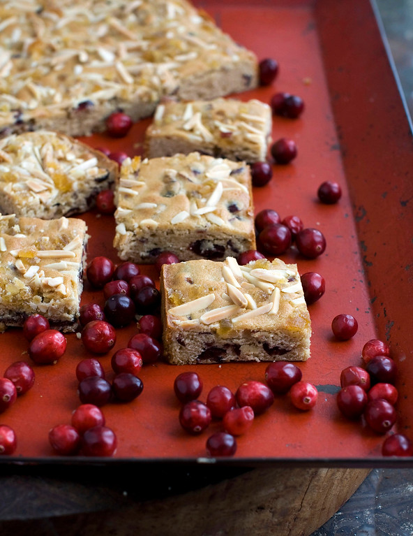 ". <a href=""https://www.yahoo.com/news/try-triple-ginger-bars-truly-spicy-holiday-131826498.html?ref=gs\"">Get the recipe for triple-ginger cranberry bars</a>. (AP Photo/Matthew Mead)"