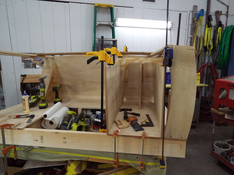 Starting to build the drawer boxes.
