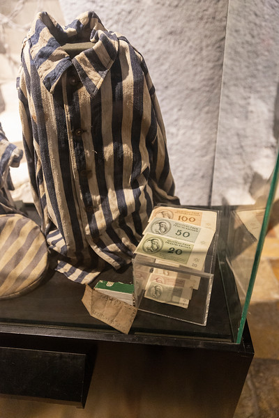 Garment and monies used by victims