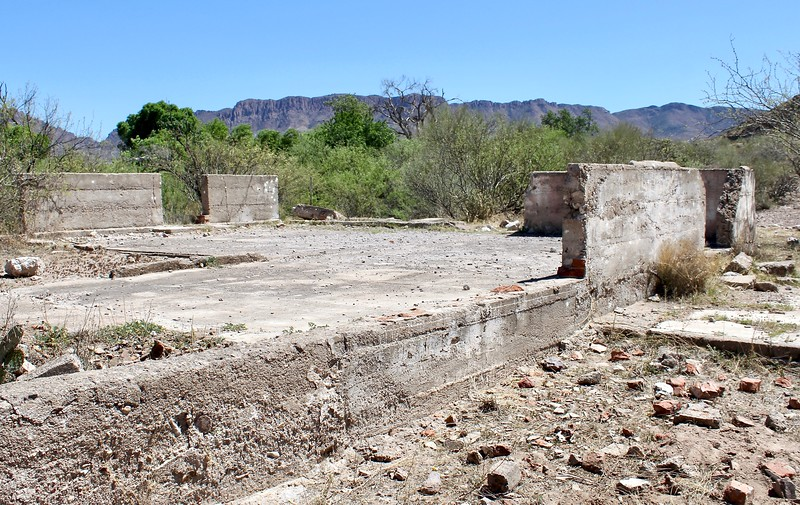 Foundation of old building at Pinal City (2018)