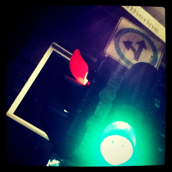 Smiley green light in Montreal