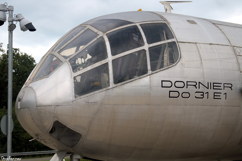 One of three prototypes of the DO 31, E1 was powered only  by the Pegasus engines, and was designed to test horizontal flight . Dornier Museum, Friedrichshafen, Baden-Württemberg, 08/24/2018  This work is licensed under a Creative Commons Attribution- NonCommercial 4.0 International License
