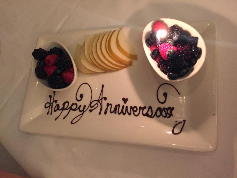 Happy Anniversary Dessert at Atlantis Steakhouse in Reno