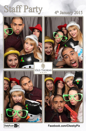 Staff party photo booth
