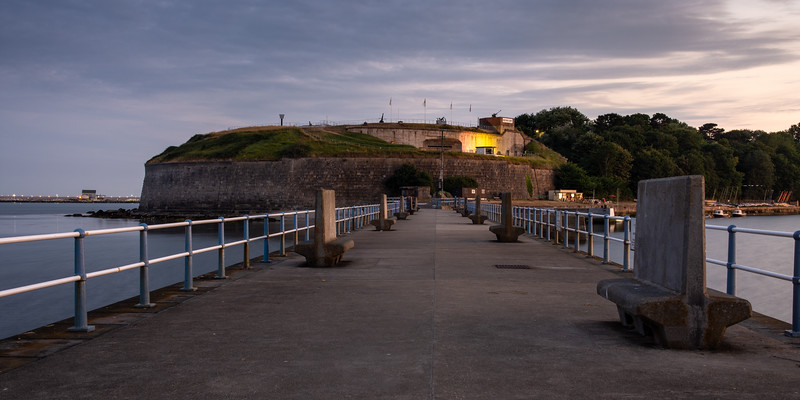 Nothe Fort sunset