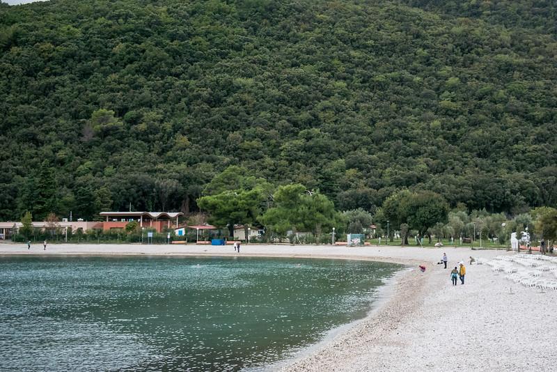 Rabac is on east coast of Isteria