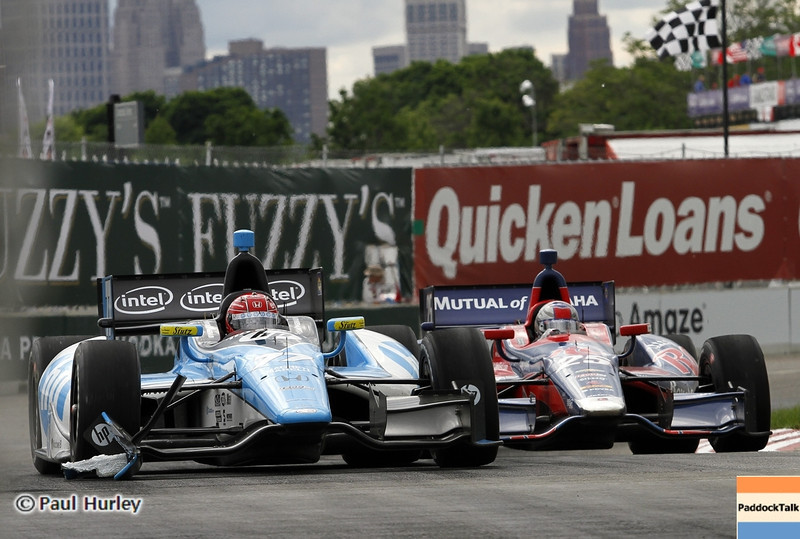 June 2: Simon Pagenaud and Marco Andretti during the Chevrolet Detroit Belle Isle Grand Prix.