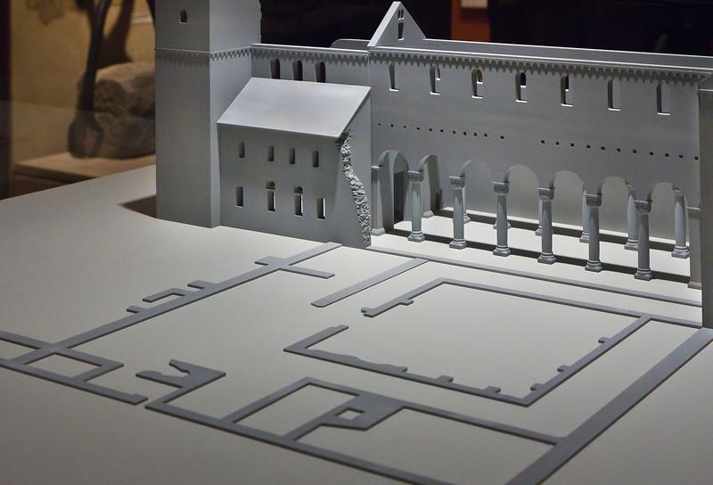 Paulinzella: Modell mit Grundriss des Kreuzgangs