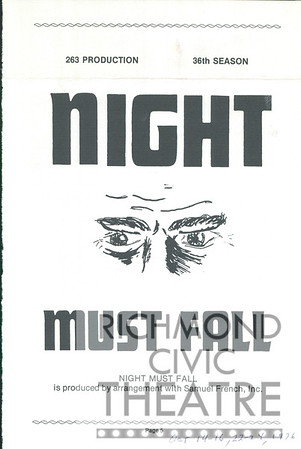 1976-1977 - Night Must Fall