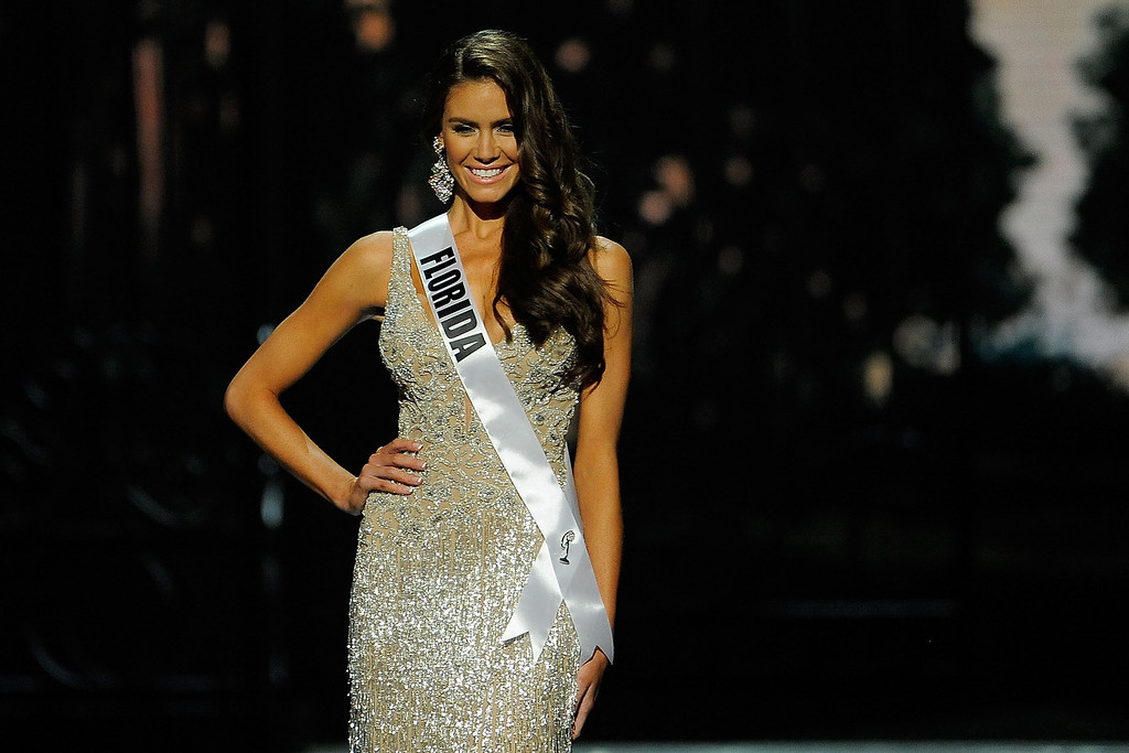 . Miss Florida USA Brittany Oldehoff competes in the 2014 Miss USA Competition at The Baton Rouge River Center on June 8, 2014 in Baton Rouge, Louisiana.  (Photo by Stacy Revere/Getty Images)