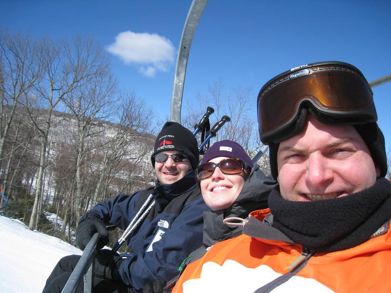 2/27/2010 - Wintergreen Ski Trip - Dan, Lauren, Jon