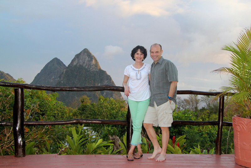 At Crystals Hotel -St. Lucia