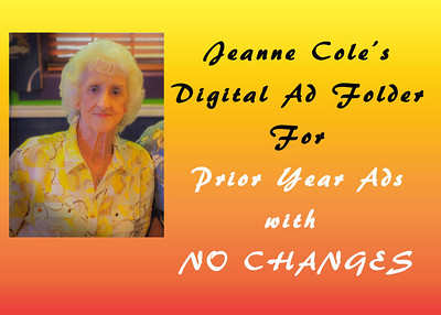 Member Ads from Jeanne Cole