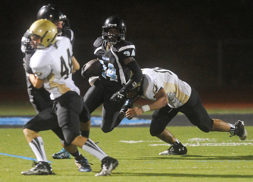 . San Gorgonio faces Citrus Valley High School in their season opener in San Bernardino on Friday, Aug. 30, 2013. (Rachel Luna / Staff Photographer)