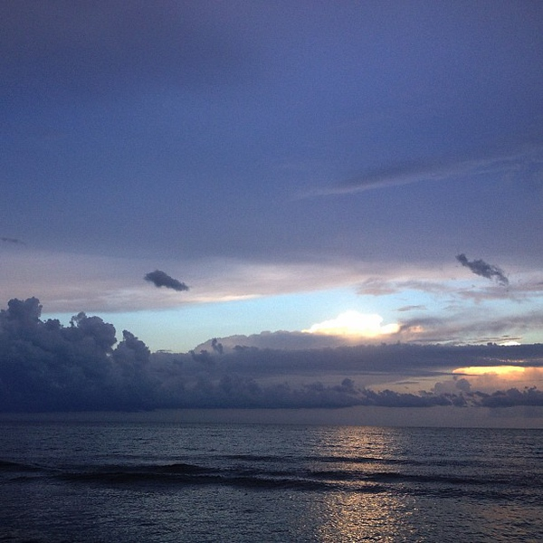 #beach #clouds after the #storm