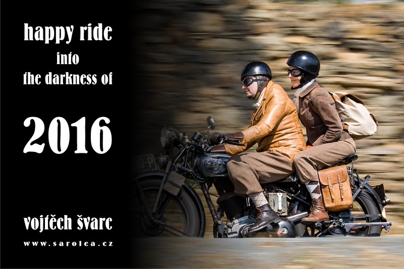 Happy ride into the darkness of 2016, Vojtěch Švarc, sarolea.cz