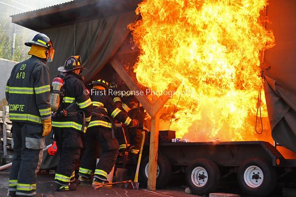 Structure fire scenes