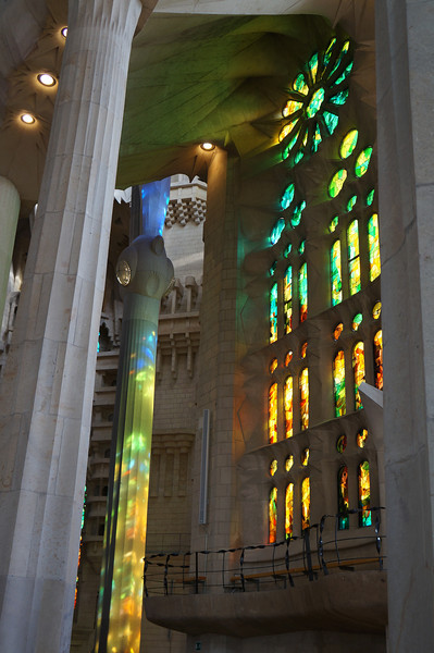 Karen was able to capture how Gaudi designed La Sagrada Família to allow the interplay of light onto his work.